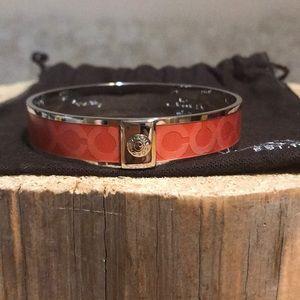 NWOT COACH Signature Bangle Bracelet